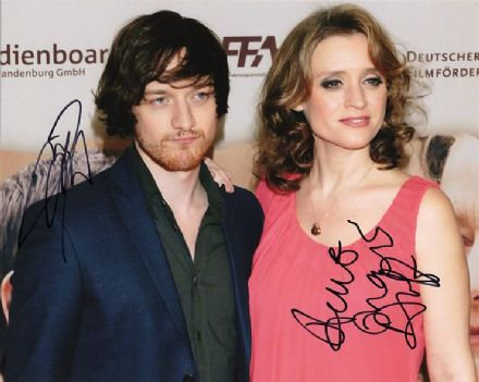 James McAvoy & Anne-Marie Duff, signed 10x8 inch photo.